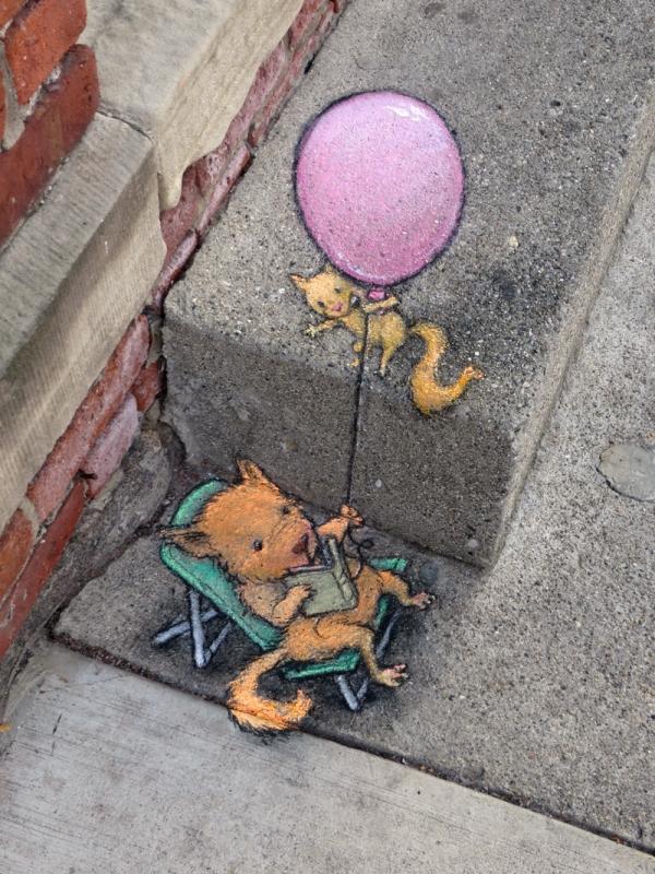 Весёлые иллюстрации уличного искусства