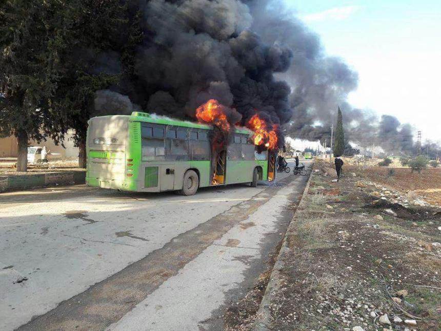 Идлиб встретил боевиков из Алеппо шквальным огнём и самодельным напалмом