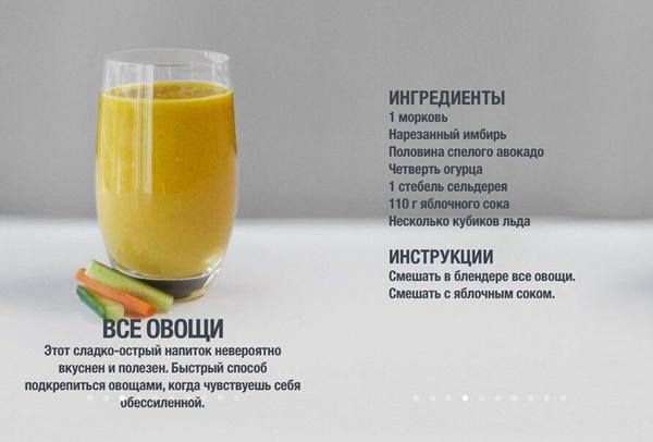4 напитка, которые зарядят тебя энергией на весь день. Полезные для здоровья коктейли.