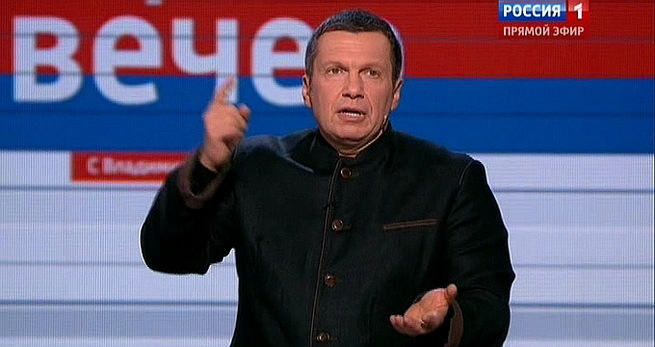 Российский телеведущий вышел из себя и пообещал наступление на Киев