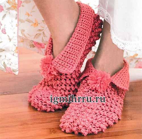 Домашние тапочки-туфли