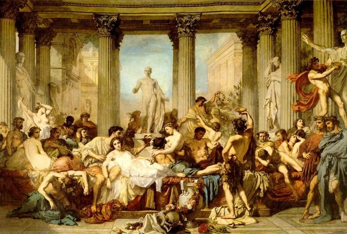 Римляне времен упадка. Тома Кутюр, 1847 г. | Фото: artscroll.ru.