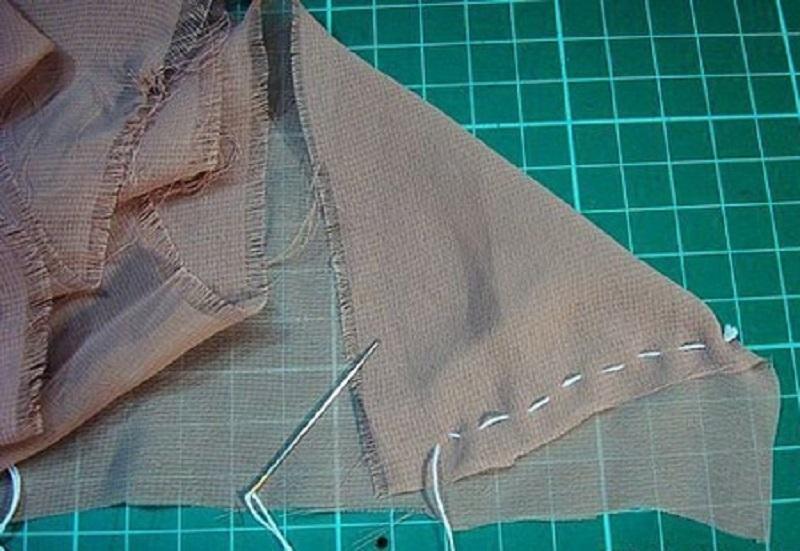 Как сделать полоски из ткани для 411