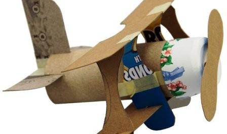 Поделка самолет для папы. Шаблон