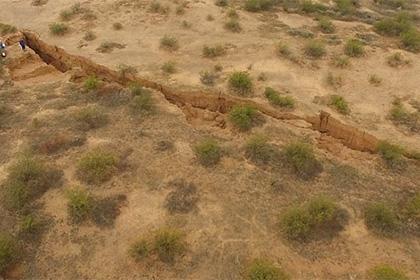 Гигантскую трещину в Аризоне сняли на видео