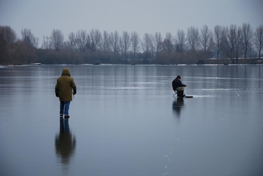 Зимняя рыбалка в Голландии