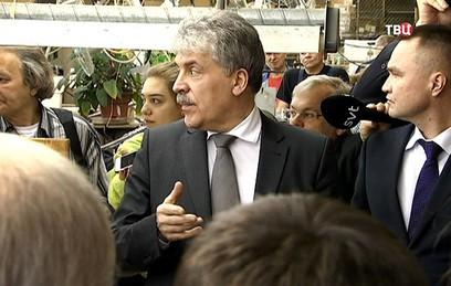 Грудинин попытался выгнать журналистов с агитационной встречи