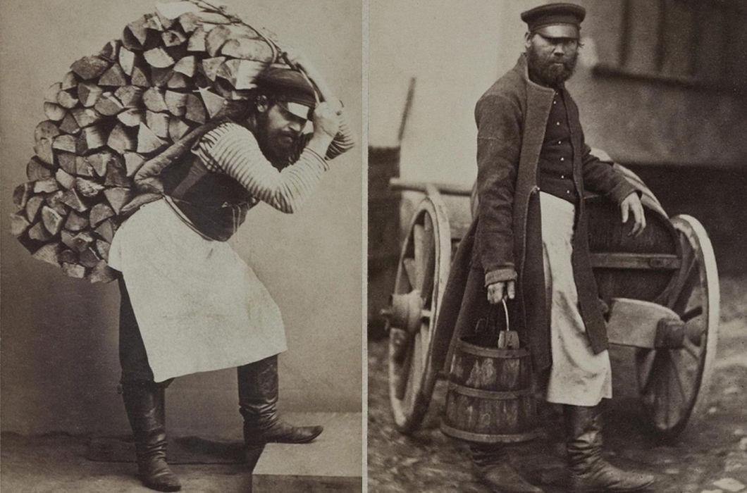 Фото XIX века: россияне разных профессий