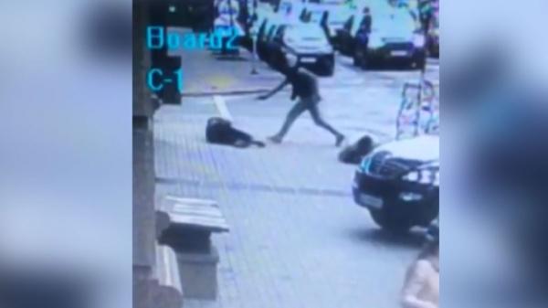 Всети появилось видео убийства вКиеве Дениса Вороненкова