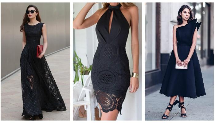 Стильные и изящные образы с маленьким чёрным платьем
