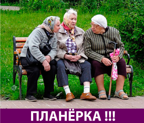 Бабульки на лавке обсуждают ...
