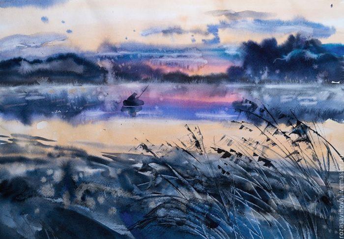 Замечательные уральские пейзажи и натюрморты самобытной художницы Розы Савиновой