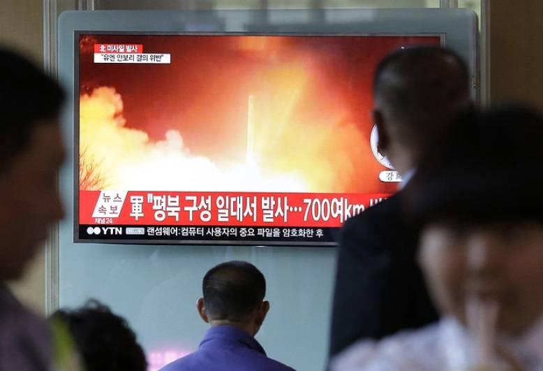 С территории Северной Кореи выполнен пуск очередной ракеты