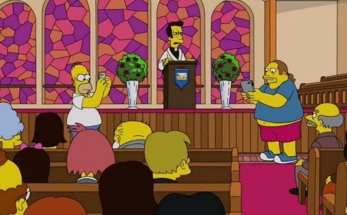 """В новой серии """"Симпсонов"""" Гомер ловил покемонов в церкви; РПЦ возмущена"""