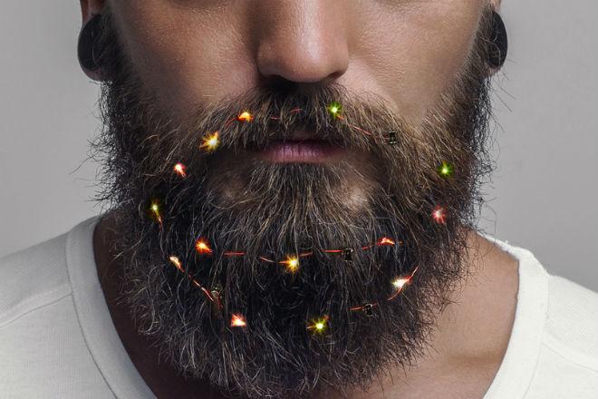 Гирлянда для бороды: безумная мода на новый год