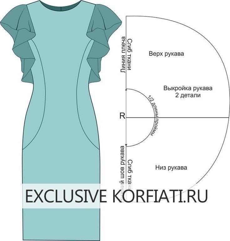 Платье с воланом или кофточка: моделирование 1