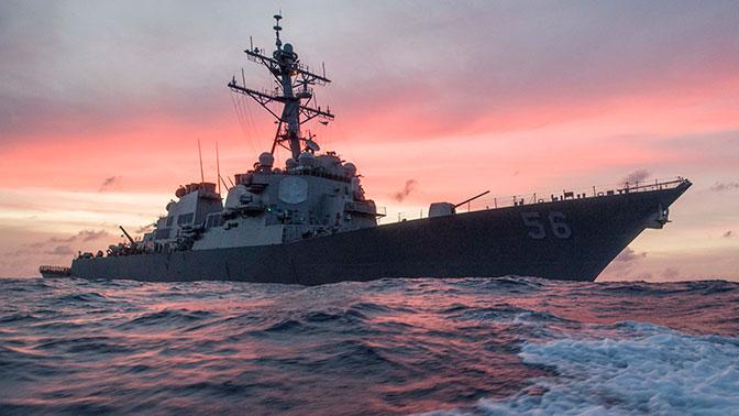 7 флот США потерял второй эсминец