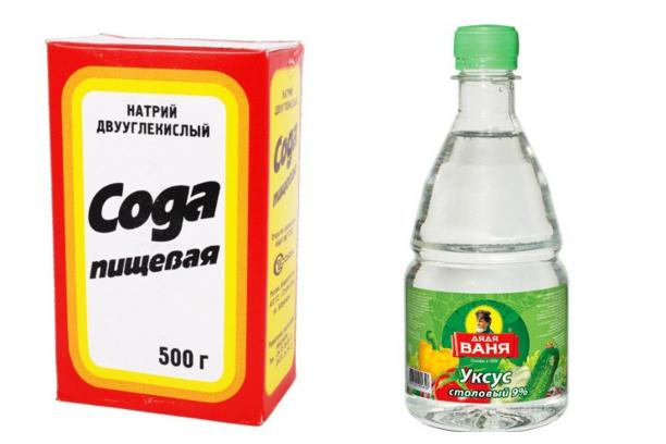 Чистящее средство своими руками сода уксус