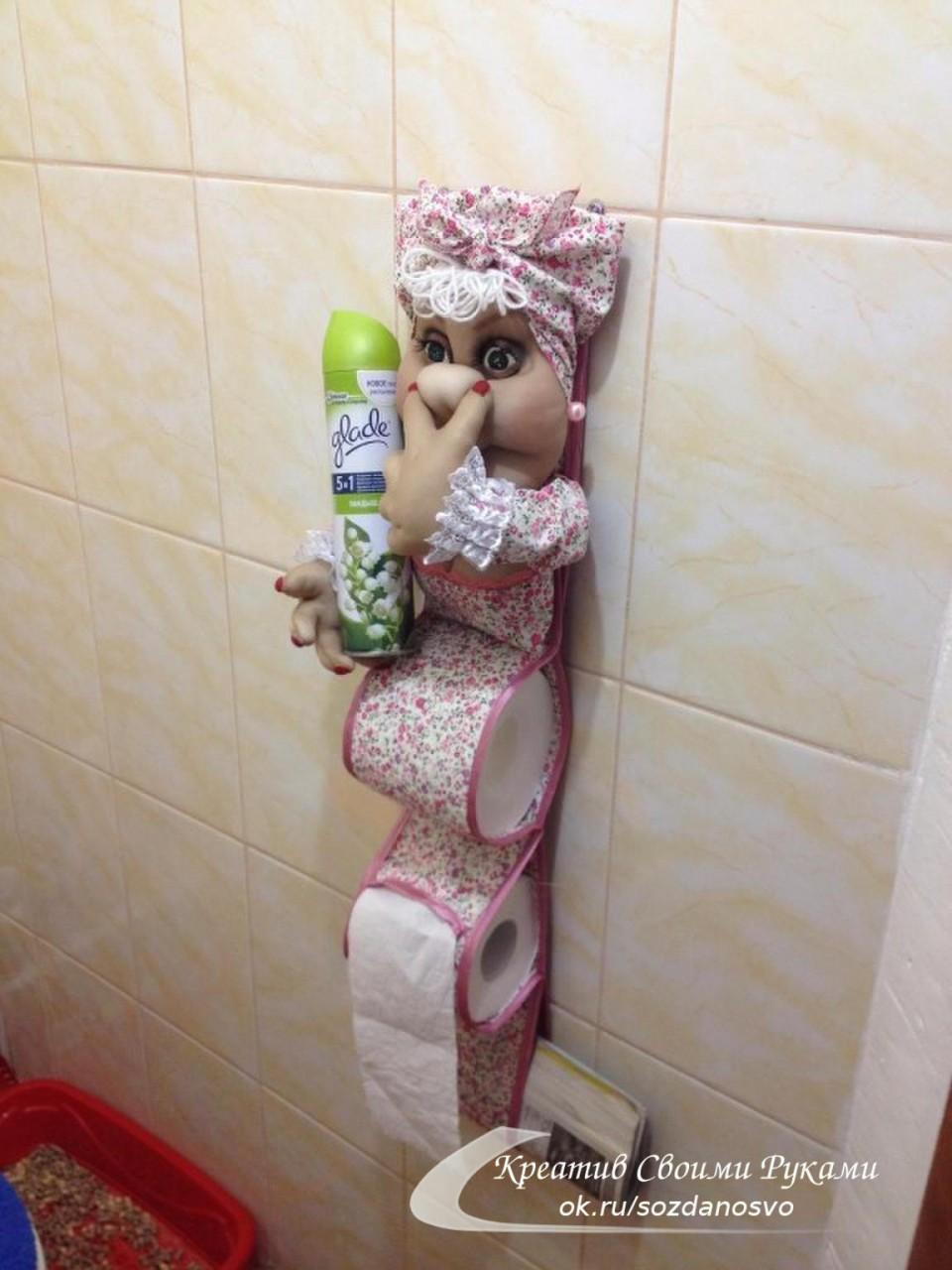 Держатель для туалетной бумаги своими руками с фото