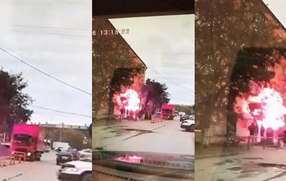 В Сети появилось видео момента взрыва газа в Волгограде