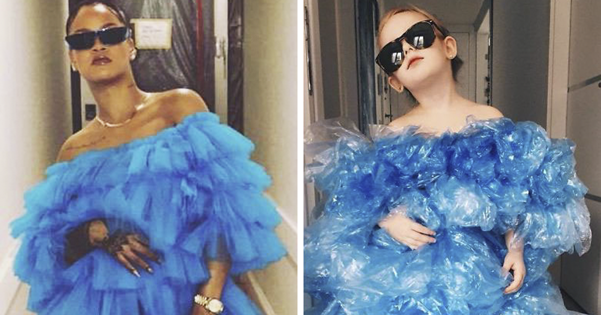 This 4-Year-Old And Her Mom Recreate Red-Carpet Looks On A Budget, Totally Nail It (43 Pics)