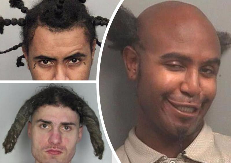 Сумасшедшие «криминальные прически»: перлы из полицейских архивов архив, волосы, криминал, люди, перлы, прикол, прически, умора