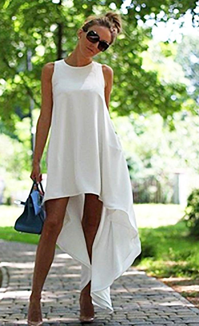 Белое летнее платье своими руками 93