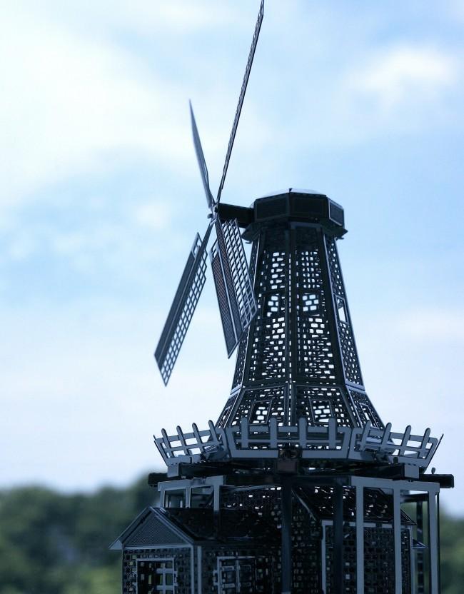 Ажурная мельница - настоящее произведение искусства
