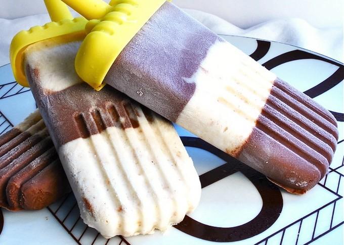 Сливочно-шоколадное мороженое с бананом