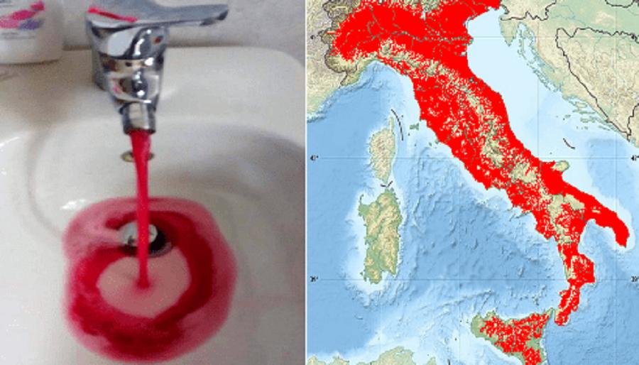 Грозное Знамение Для Италии: Вода Превратилась В Кровь