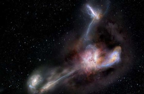 Ученые нашли самую яркую галактику во Вселенной