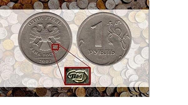 1 рубль 2003г. коллекция, монеты, редкость
