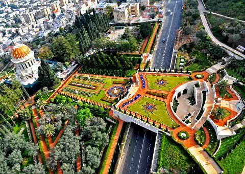 сады бахаи в Хайфе фото