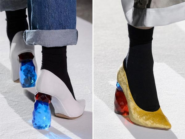 Модные туфли с декоративным каблуком осень-зима 2017-2018 Dries von Noten