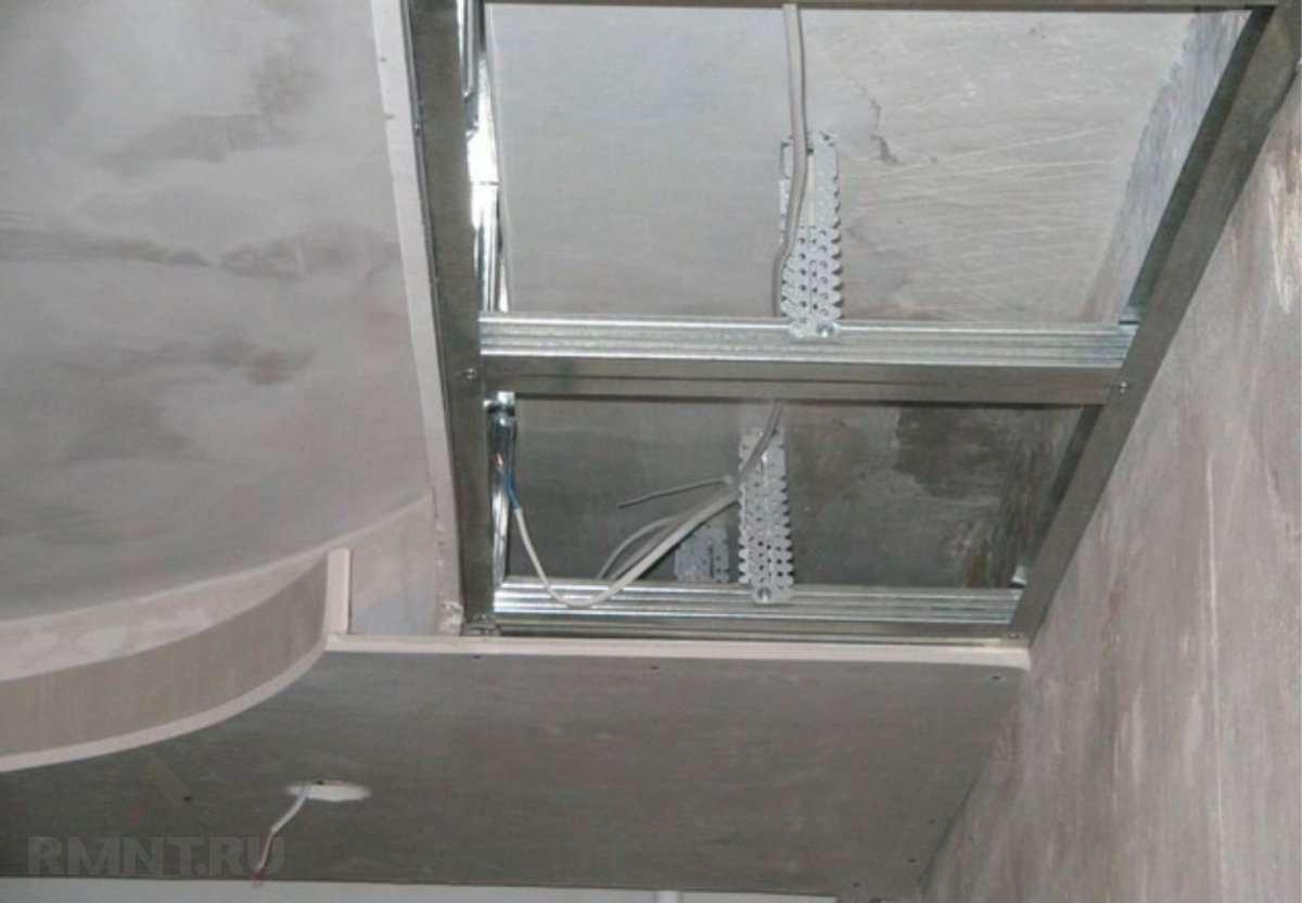 Двухуровневые подвесной потолки из гипсокартона своими руками