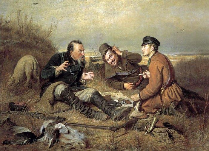 В. Перов. Охотники на привале, 1871 | Фото: hudojnik-peredvijnik.ru