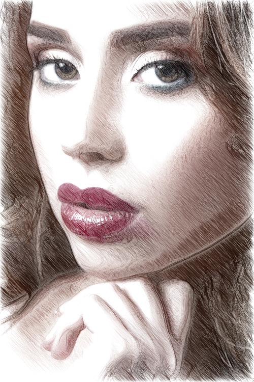 Фоторисовалка Красотки раскрывающие образ