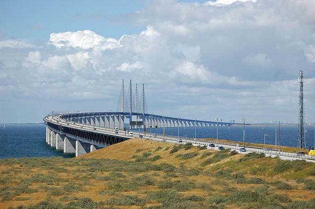Эресуннский мост-тоннель уходит под воду