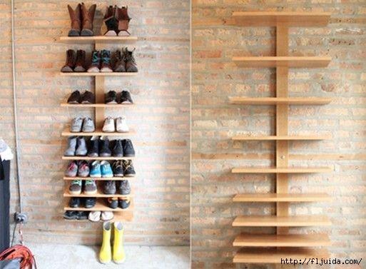 Своими руками для дома полки для обуви