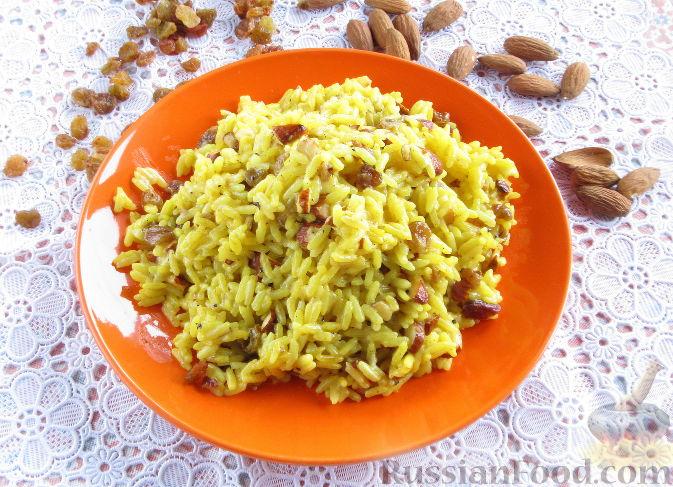 Фото приготовления рецепта: Пряный рис с изюмом и миндалем - шаг №1