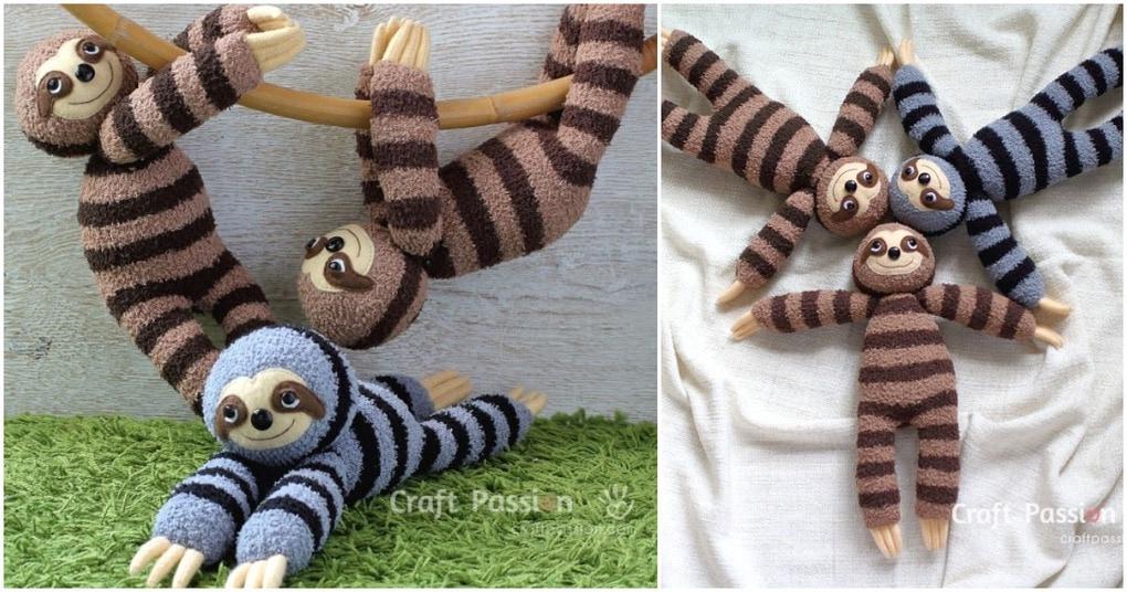 Не ленимся и шьем ленивцев: очаровательные игрушки из простых материалов