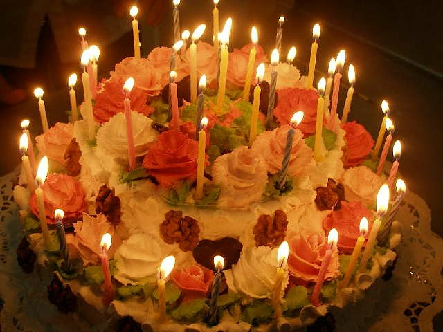 фото тортов со свечками