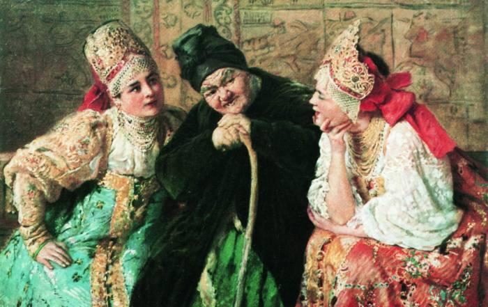 Художник К. Маковский. Сваха./Фото: art-catalog.ru