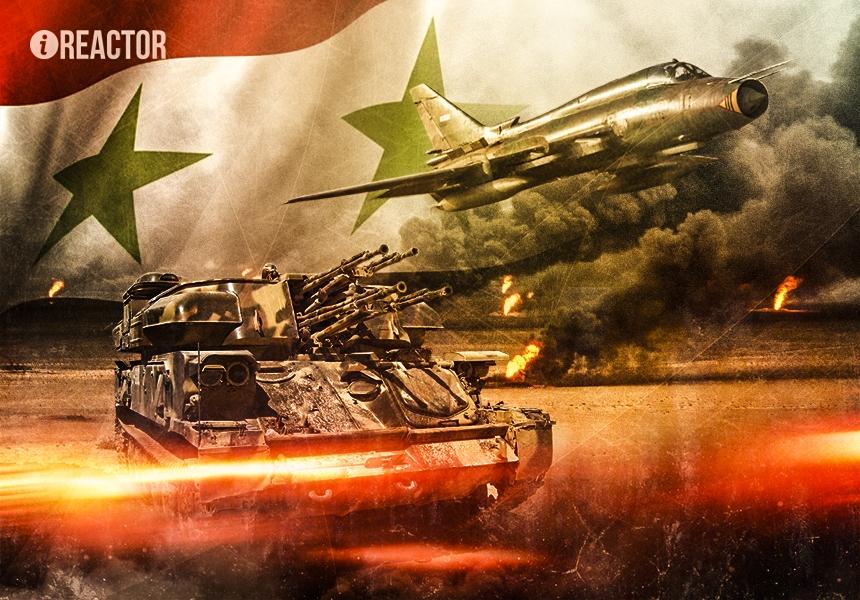 Сирийцы засняли разрушительные удары авиации под прикрытием «Шилок»