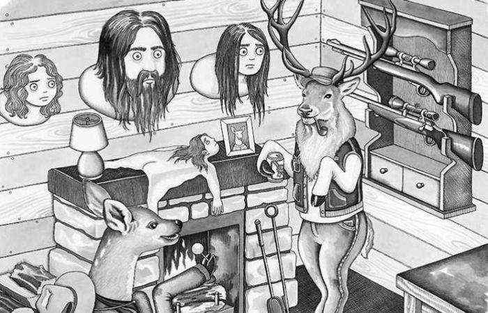 Фантасмагорические иллюстрации о том, что было бы, если бы животные вели себя, как люди