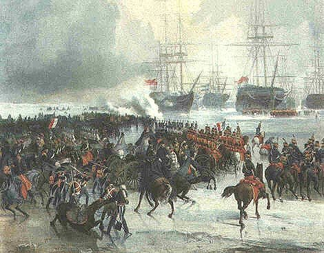 Захват флота кавалерией. война, история, факты, юмор