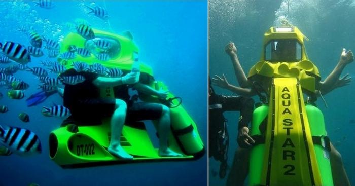 Подводный скутер от российских инженеров: комфортный дайвинг будет доступен всем