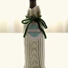 как упаковать бутылку к празднику