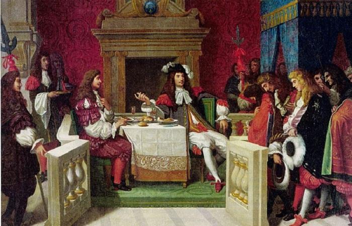 Мольер ужинает с Людовиком XIV. Жан Огюст Доминик Энгр, 1857 год. .