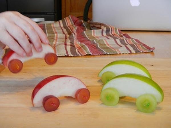 машина из яблока